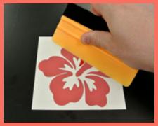 Description: Step 2 - Prepare the sticker for application